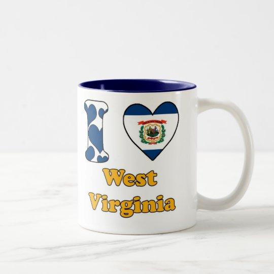 I love West Virginia Tweekleurige Koffiemok