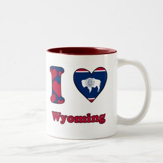 I love Wyoming Tweekleurige Koffiemok