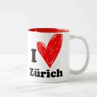 I love Zürich Tweekleurige Koffiemok