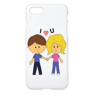 I Luv het Paar van U Chibi - Volledig Ontwerp iPhone 8/7 Hoesje