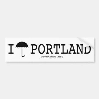 I Paraplu Portland Bumpersticker