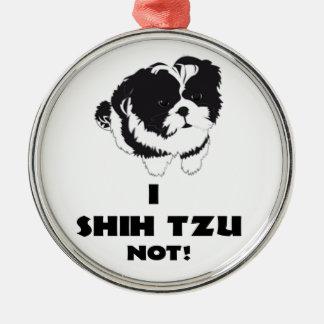 i sjah futz niet ontwerp zilverkleurig rond ornament