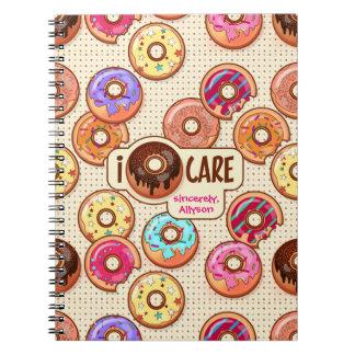 I Snoepje van de Doughnut van de Zorg van de Notitieboek
