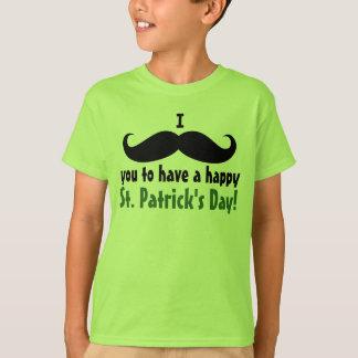 I Snor u het Gelukkige St. Patrick Overhemd van T Shirt