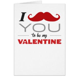 I Snor u om Mijn Wenskaart van Valentijn te zijn