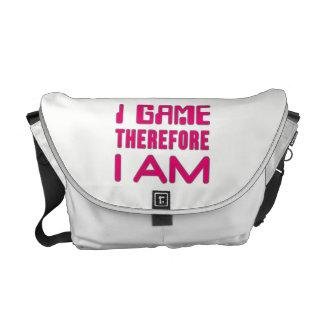 I Spel daarom BEN ik Meisje Gamer Courier Bag