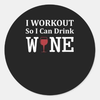 I Training zodat kan ik de Wijn van de Training Ronde Sticker