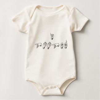 I Uitgeput (ASL) Baby Shirt