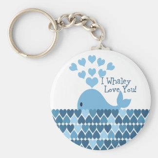 I Whaley houdt van u! Blauw Sleutelhanger