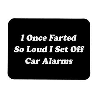 I zodra zo Luide Farted ik het Alarm van de Auto Magneet