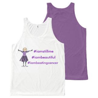 #iamstillme #iambeautiful #iambeating kanker All-Over-Print tank top
