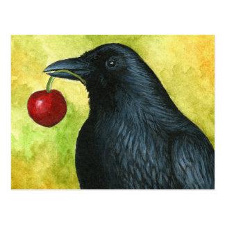 IBHO 55 crow raven Briefkaart