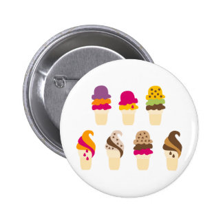 IceCream6 Ronde Button 5,7 Cm