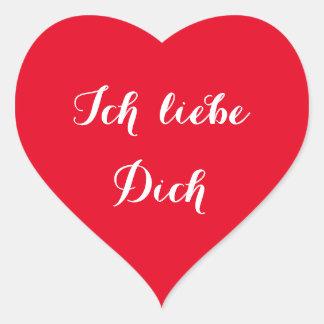Ich liebe Dich I Liefde u in de Duitse Sticker van