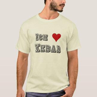 Ich Liebe Kebab I liefde kebab Deutsche het Duits T Shirt
