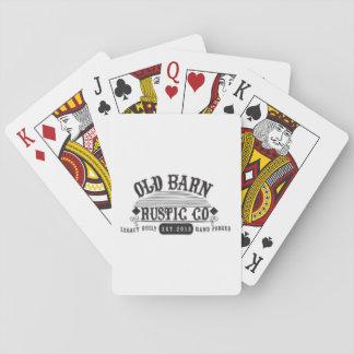 Iconische Gemerkte Oude Schuur Rustieke Speelkaarten