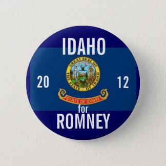 Idaho voor Romney 2012 Ronde Button 5,7 Cm