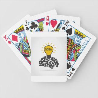 Idee van hersenen poker kaarten