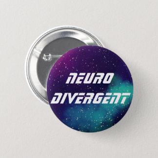 Identiteit van de Melkweg van Neurodivergent de Ronde Button 5,7 Cm