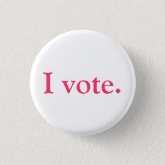 Identiteitskaart van de kiezer, grlsvote stijl ronde button 3,2 cm