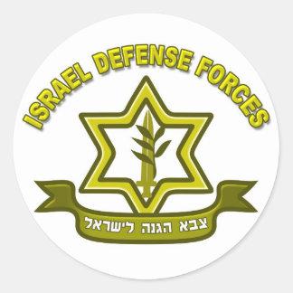 IDF - de insignes van de Krachten van de Defensie Ronde Sticker