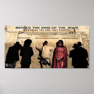 IDF - Jesus die bij Muur 1 loeien Poster