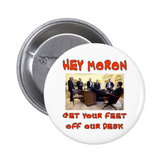 IDIOOT HEY RONDE BUTTON 5,7 CM