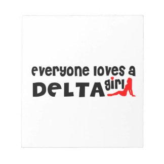 Iedereen houdt van een DeltaMeisje Notitieblok