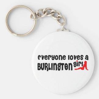 Iedereen houdt van een Meisje van Burlington Sleutelhanger