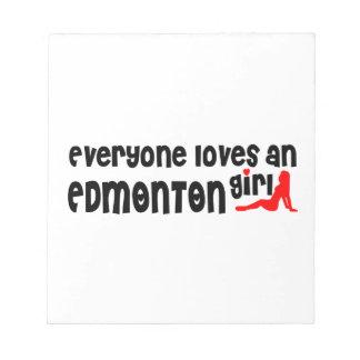 Iedereen houdt van een Meisje van Edmonton Notitieblok