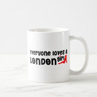 Iedereen houdt van een Meisje van Londen Koffiemok