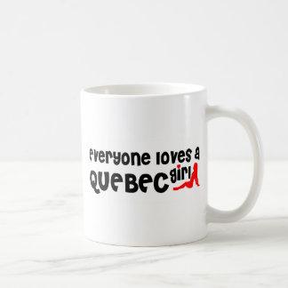 Iedereen houdt van een Meisje van Quebec Koffiemok