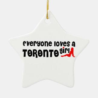 Iedereen houdt van een Meisje van Toronto Keramisch Ster Ornament