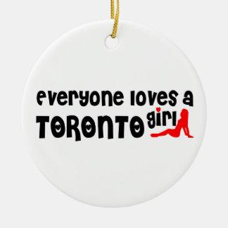 Iedereen houdt van een Meisje van Toronto Rond Keramisch Ornament