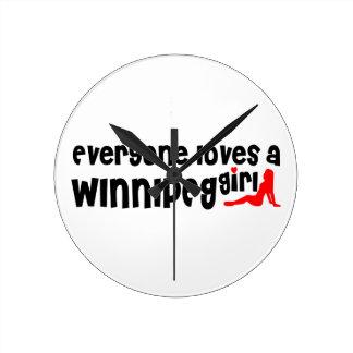 Iedereen houdt van een Meisje van Winnipeg Ronde Klok