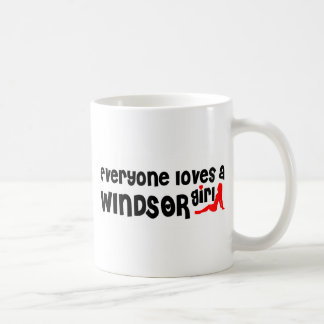 Iedereen houdt van een Meisje Windsor Koffiemok