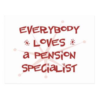 Iedereen houdt van een Specialist van het Pensioen Briefkaart