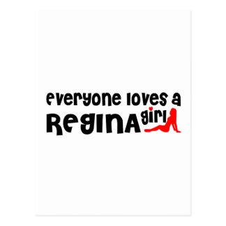 Iedereen houdt van Regina Girl Briefkaart