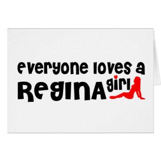 Iedereen houdt van Regina Girl Kaart
