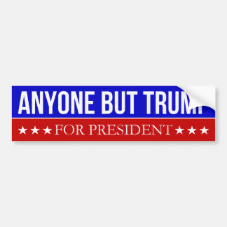 Iedereen maar Troef voor President Bumpersticker
