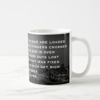 Iedereen weet dat zijn geladen Lyrisch gedicht Koffiemok