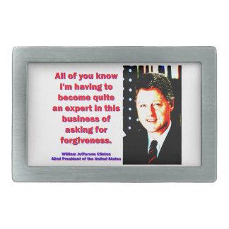 Iedereen weten - Bill Clinton het Gespen