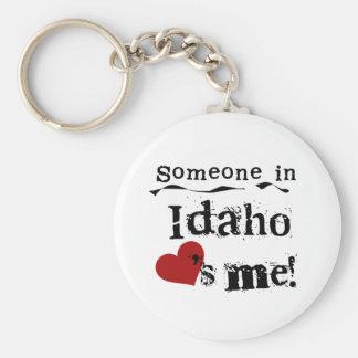 Iemand in Idaho houdt van me Basic Ronde Button Sleutelhanger
