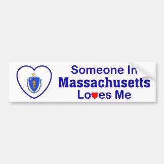 Iemand in Massachusetts houdt van me Bumpersticker