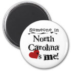 Iemand in Noord-Carolina houdt van me Magneet