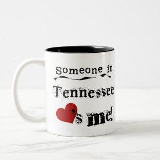 Iemand in Tennessee houdt van me Tweekleurige Koffiemok