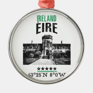 Ierland Zilverkleurig Rond Ornament