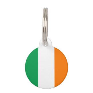 Iers het huisdierenlabel van de vlagdouane voor huisdierpenning