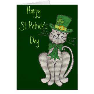 Iers Kat - de Gelukkige St. Patrick Kaart van de