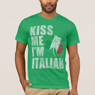 Iers kus me ik ben Italiaanse St Patrick Dag T Shirt